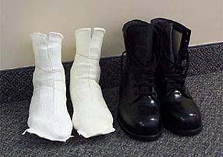 Custom-made boots with insole casting