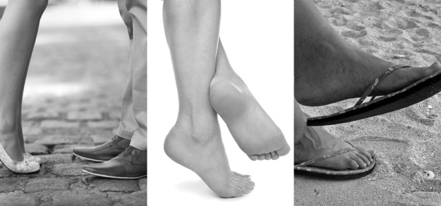 feet with custom orthotics | foot care